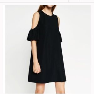Zara Cold shoulder black dress
